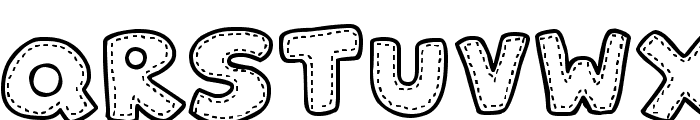 Patchwork Stitchlings Font LOWERCASE