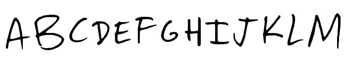 Paterson Regular Font UPPERCASE