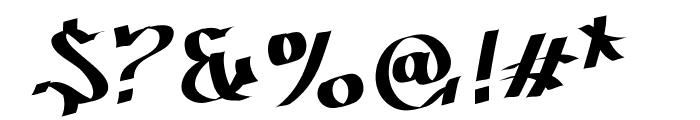 Patinio Graffiti Font OTHER CHARS