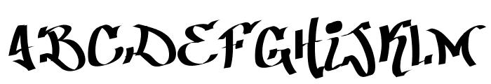 Patinio Graffiti Font UPPERCASE