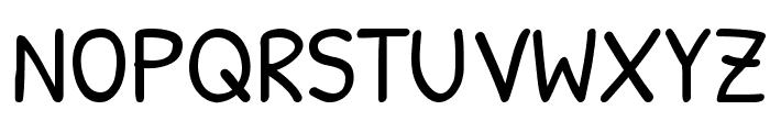 PatrickHand Font UPPERCASE
