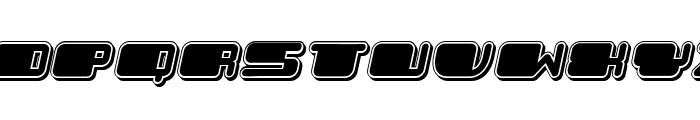 Patriotic Black Italic Font LOWERCASE