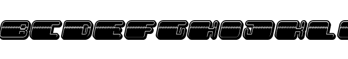 Patriotic Filled Italic Font LOWERCASE