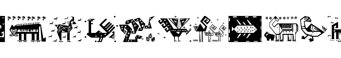 PatternArt Font LOWERCASE