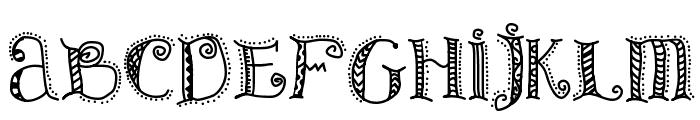 Patterns & Dots Font UPPERCASE