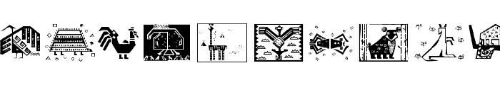 PatternsAnimals Font LOWERCASE