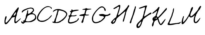 PattiFont Font UPPERCASE