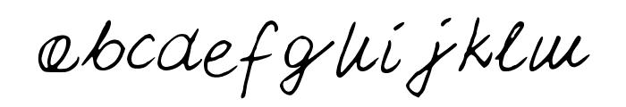 PattiFont Font LOWERCASE
