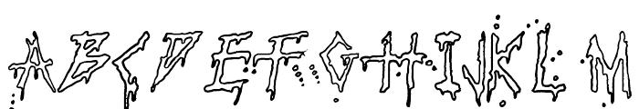 Pauls Bloody Font Font UPPERCASE