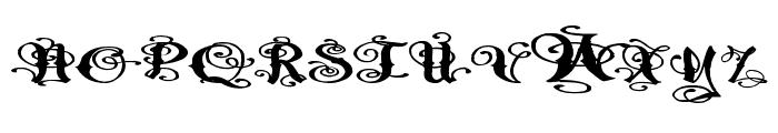 Pauls Fancy Script Font UPPERCASE