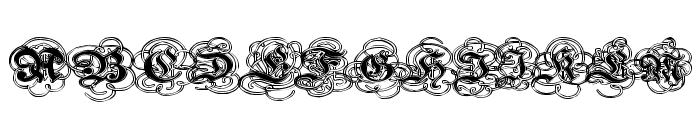Pauls Gothic Curls Font UPPERCASE