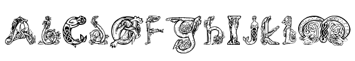 Pauls Illuminated Celtic Font Font UPPERCASE