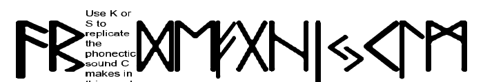 Pauls Real Celtic Rune Font Font LOWERCASE