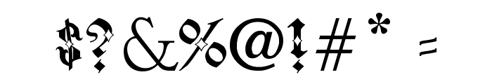Pauls Sinner Font Font OTHER CHARS