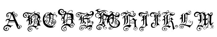 Pauls Swirly Gothic Font Font UPPERCASE