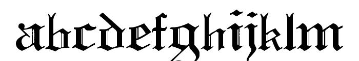Pauls Swirly Gothic Font Font LOWERCASE