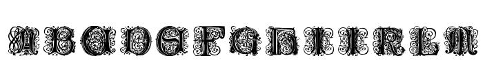 Paulus Franck Initialen Font LOWERCASE