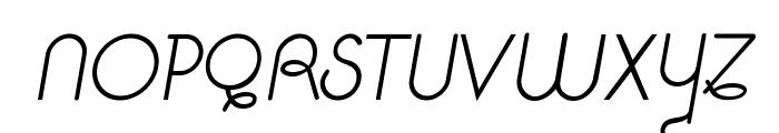 Pavadee Light Italic Font UPPERCASE