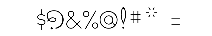 Pavadee UltraLight Font OTHER CHARS