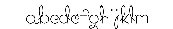 Pavadee UltraLight Font LOWERCASE