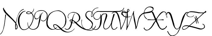 Pavane Font UPPERCASE
