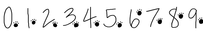 PawPrints Font OTHER CHARS