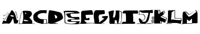 paintblack Font UPPERCASE