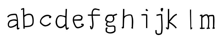 panji serif Font LOWERCASE