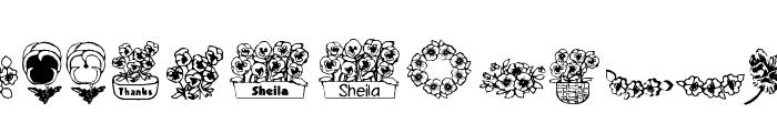 pansies4sheila Font LOWERCASE