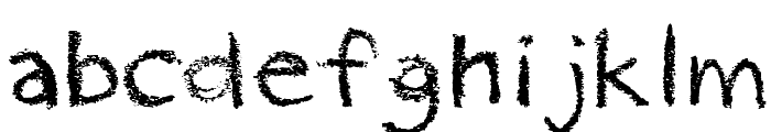pastelRegular Font LOWERCASE