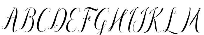 paulinescript Font UPPERCASE