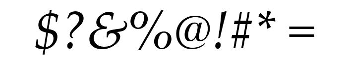 Palatino Linotype Italic Font OTHER CHARS