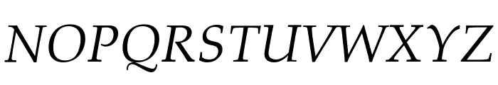 Palatino Linotype Italic Font UPPERCASE