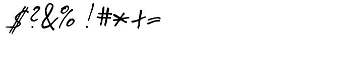 Pablo Handwriting Regular Font OTHER CHARS
