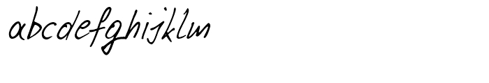 Pablo Handwriting Regular Font LOWERCASE