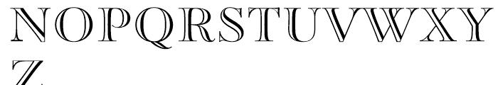Paganini Open Font UPPERCASE