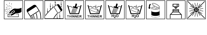 Paint industry symbols Regular Font OTHER CHARS