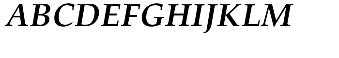 Palatino Bold Italic Font UPPERCASE