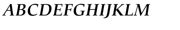 Palatino nova Cyrillic Bold Italic Font UPPERCASE