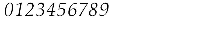 Palatino nova Light Italic Font OTHER CHARS