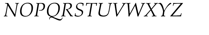 Palatino nova Light Italic Font UPPERCASE