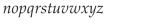 Palatino nova Light Italic Font LOWERCASE
