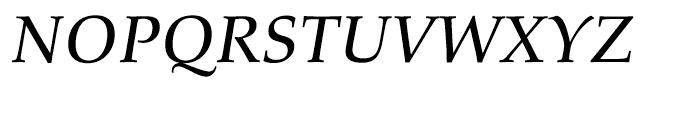 Palatino nova Medium Italic Font UPPERCASE