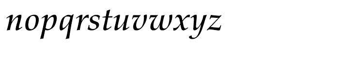 Palatino nova Medium Italic Font LOWERCASE