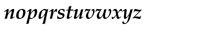 Palladio Bold Italic Font LOWERCASE