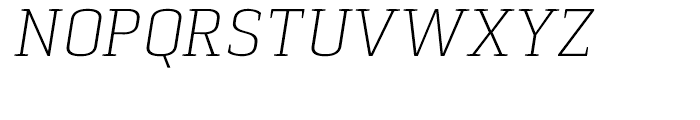 Pancetta Serif Pro Extra Light Italic Font UPPERCASE