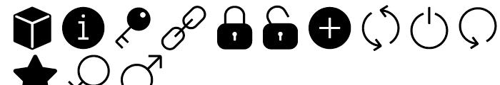 Panton Icons D Fill Regular Font UPPERCASE