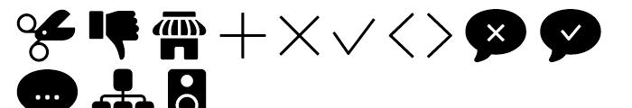 Panton Icons D Fill Regular Font LOWERCASE