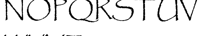Papyrus Regular Font UPPERCASE