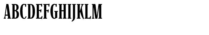 Parkinson Condensed Light Font UPPERCASE